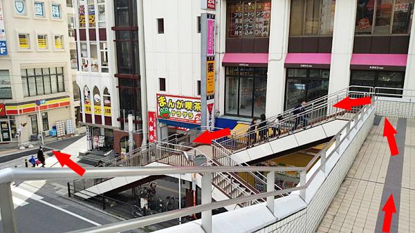 松戸駅を背に左へ進む